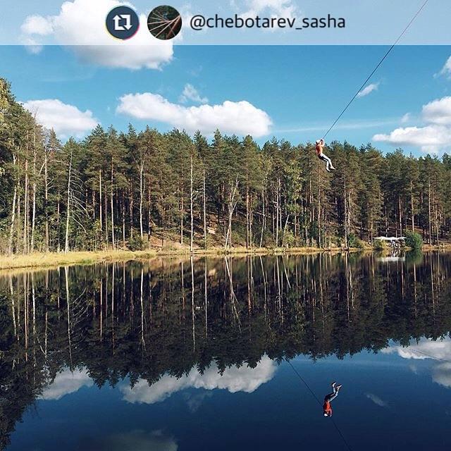 Спасибо @chebotarev_sasha за отличные фото и отзывы о веревочном парке GREENVALD Парк Скандинавия  Мы ждем вас каждый день с 10.00 до 20.00  Координаты: 60.287649, 29.744828