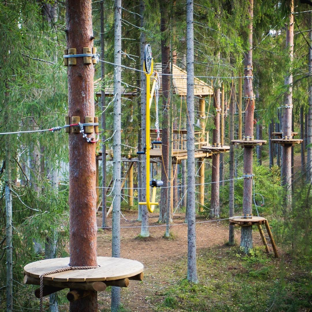 Один из самых популярных аттракционов верёвочного  парка GREENVALD Парк Скандинавия  Ручной велосипед🚴, все просто садишься и крутишь педали руками Проведите выходные с пользой для души и тела🏻Координаты: 60.287649, 29.744828